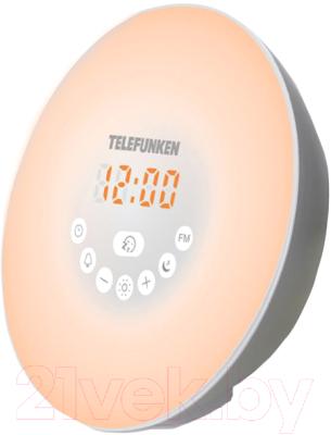 Радиочасы Telefunken TF-1589B (белый)
