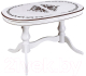 Обеденный стол ТехКомПро Юкка 1200 c рисунком №1 (бук/тон 1/патина) -
