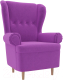 Кресло мягкое Mebelico Торин / 100934 (микровельвет, фиолетовый) -