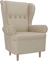 Кресло мягкое Mebelico Торин / 100938 (флок, бежевый) -