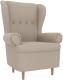 Кресло мягкое Mebelico Торин / 100941 (рогожка, бежевый) -