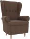 Кресло мягкое Mebelico Торин / 100942 (рогожка, коричневый) -