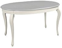 Обеденный стол ТехКомПро Азалия 1450 Ножка №10 (бук/тон шале/царги/тон 1) -