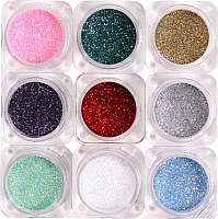 Набор декоративной косметики Bellapierre Glamourous Glitter (9 пигментов) -