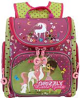 Школьный рюкзак Grizzly RA-971-1 (фуксия/салатовый) -