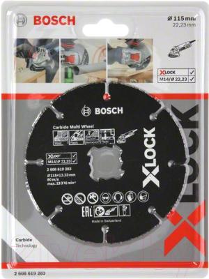 Отрезной диск Bosch X-lock 2.608.619.283