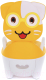 Детский горшок Pituso Котик в очках / 1730 (желтый) -