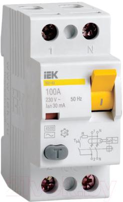 Устройство защитного отключения IEK ВД1-63 2P 63А 30mA / MDV10-2-063-030