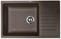 Мойка кухонная ZorG Dello 78 (горький шоколад) -