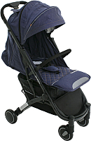 Детская прогулочная коляска Babyzz D200 (джинс, черная рама) -