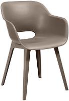 Стул пластиковый Keter Akola Cup Chair / 235827 (капучино) -