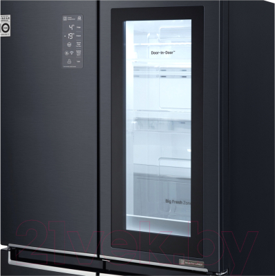 Холодильник с морозильником LG DoorCooling+ GC-Q22FTBKL