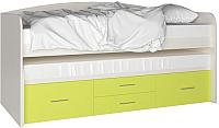 Двухъярусная кровать Артём-Мебель СН 108.02 (сосна/лайм) -