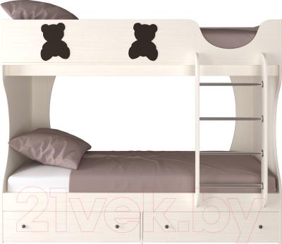Двухъярусная кровать детская Артём-Мебель СН 108.01 (венге/сосна)