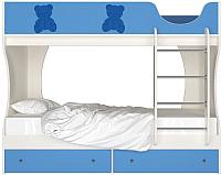 Двухъярусная кровать Артём-Мебель СН 108.01 (сосна/синий) -