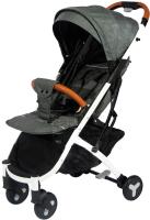 Детская прогулочная коляска Yoya Plus 2 (серый/черный) -