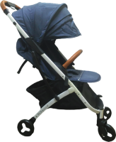 Детская прогулочная коляска Yoya Plus 2 (темно-синий/белый) -