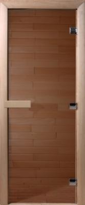 Стеклянная дверь для бани/сауны Doorwood Теплый день 190x70