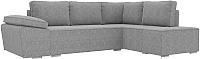 Комплект мягкой мебели Лига Диванов Хавьер правый / 101264 (рогожка серый) -