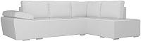 Комплект мягкой мебели Лига Диванов Хавьер правый / 101268 (экокожа белый) -
