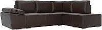 Комплект мягкой мебели Лига Диванов Хавьер правый / 101269 (экокожа коричневый) -