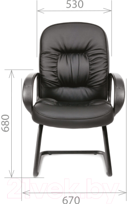 Кресло офисное Chairman 416V (экокожа, матовый черный)