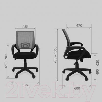 Кресло офисное Chairman 696 (черный)