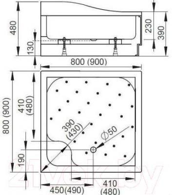 Душевой поддон Radaway Korfu C900 / 4C99400-03