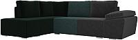 Комплект мягкой мебели Лига Диванов Хавьер левый / 101247 (велюр серый/бирюзовый/зеленый) -