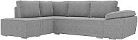 Комплект мягкой мебели Лига Диванов Хавьер левый / 101264 (рогожка серый) -