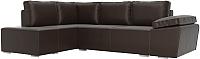 Комплект мягкой мебели Лига Диванов Хавьер левый / 101269 (экокожа коричневый) -