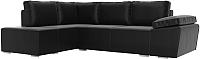 Комплект мягкой мебели Лига Диванов Хавьер левый / 101271 (экокожа черный) -
