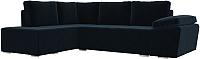 Комплект мягкой мебели Лига Диванов Хавьер левый / 101248 (велюр синий) -