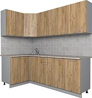 Готовая кухня Интерлиния Мила Лайт 1.2x2.2 (дуб золотой) -
