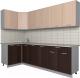 Готовая кухня Интерлиния Мила Лайт 1.2x2.6 (дуб молочный/дуб венге) -