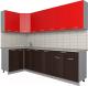 Готовая кухня Интерлиния Мила Лайт 1.2x2.6 (красный/дуб венге) -