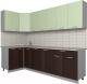 Готовая кухня Интерлиния Мила Лайт 1.2x2.6 (салатовый/дуб венге) -