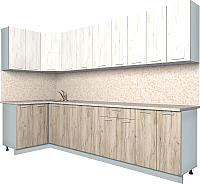 Готовая кухня Интерлиния Мила Лайт 1.2x3.0 (дуб белый/дуб серый) -