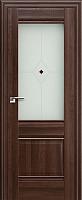 Дверь межкомнатная ProfilDoors 2X 80x200 (орех сиена/стекло матовое/коричневый фьюзинг) -