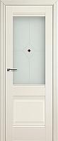 Дверь межкомнатная ProfilDoors 2X 80x200 (эшвайт/стекло матовое/коричневый фьюзинг) -