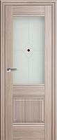 Дверь межкомнатная ProfilDoors 2X 60x200 (орех пекан/стекло матовое/коричневый фьюзинг) -