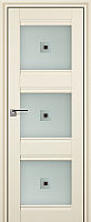 Дверь межкомнатная ProfilDoors 4X 60x200 (эшвайт/стекло матовое/коричневый фьюзинг) -