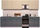 Готовая кухня Интерлиния Мила Gloss 50-29 (ваниль/асфальт глянец) -