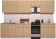 Готовая кухня Интерлиния Мила Gloss 50-29 (капучино глянец) -