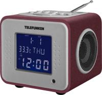 Радиочасы Telefunken TF-1575U (бордовый) -