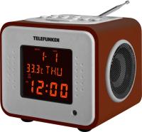 Радиочасы Telefunken TF-1575U (темное дерево) -