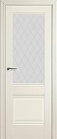 Дверь межкомнатная ProfilDoors 2X 60x200 (эшвайт/стекло/ромб) -