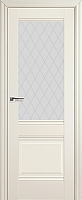 Дверь межкомнатная ProfilDoors 2X 80x200 (эшвайт/стекло/ромб) -
