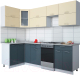 Готовая кухня Интерлиния Мила Gloss 50-12x25 (ваниль/асфальт глянец) -