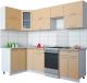 Готовая кухня Интерлиния Мила Gloss 50-12x25 (капучино глянец) -